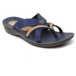 Paragon-Solea Men's Blue Slippers