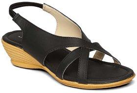 Paragon-Solea Plus Women's Black Slippers