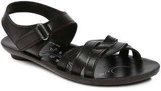 Paragon-Solea Women's Black Slippers