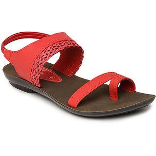 Buy Paragon-Solea Women's Red Slippers