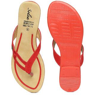 7539fb89cf6787 Buy Paragon-Solea Plus Women's Red Slippers Online - Get 25% Off
