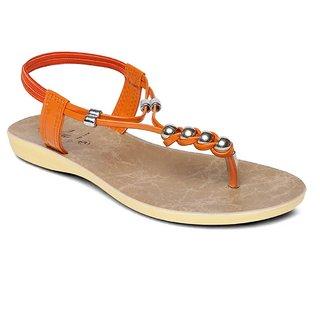 Buy Paragon Solea Women S Orange Slippers Online Get 0 Off