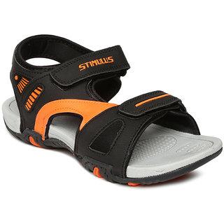 7da78b6d1ed1ab Paragon-Stimulus Men s Black And Orange Floaters Best Deals With ...