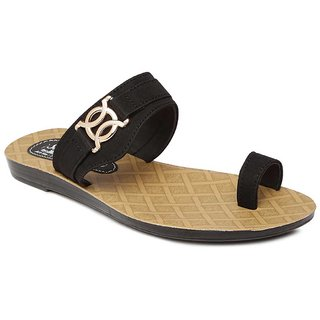 Paragon-Solea Mens Black Slippers