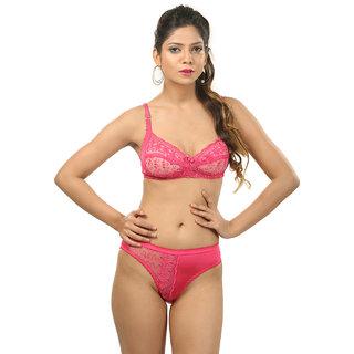 Body Liv Net Satin Wedding Pink Lingerie Set