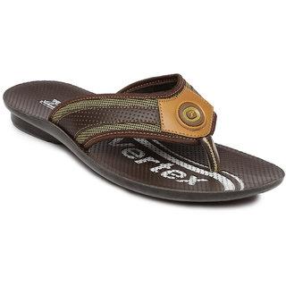 62bf10edf6c Buy Paragon-Vertex Men s Brown Flip Flops Online   ₹249 from ShopClues