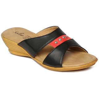 ace237f5cd571 Buy Paragon-Solea Plus Women s Black Slippers Online   ₹299 from ShopClues