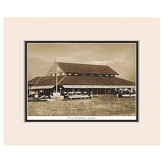Old Vintage Bombay (Mumbai) Mounted Photo Frame of View of Hindu Gymkhana