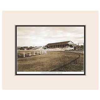 Old Vintage Bombay (Mumbai) Mounted Photo Frame of View of Mahalaxmi Racecourse