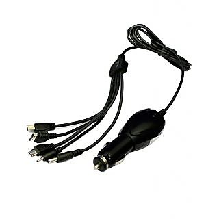 MOCOMO Imported 5 In 1 Long Wire Car Multi Pin Mobile Charger