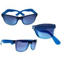 Derry Folding Blue Wayfarer Sunglasses