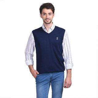 884c2614b0201 Buy Concepts Blue Men s Sleeveless Sweater Online - Get 80% Off