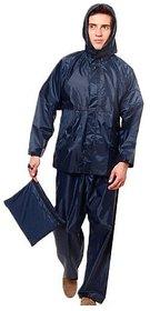 MOCOMO Bike/Scooter Water Proof Rain Suit With Hood-Blue