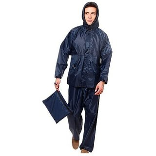 OMCY Bike/Scooter Water Proof Rain Suit With Hood-Blue