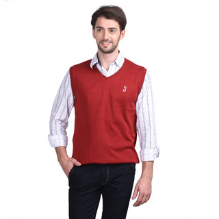 Concepts Red Mens Sleveless Sweater