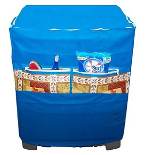 Dreams Home Blue Washing Machine Cover With Front Pocket 1 Pc.