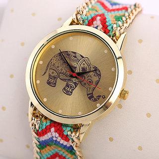Fashion Elephant Watches Hand Made Fabric Band WOMEN,GIRLS AND LEADISH