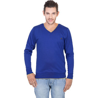 Concepts Royal Blue Mens Full Sleeves Sweater