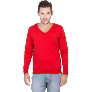 427638cd082e9 Buy Concepts Red Men s Full Sleeves Sweater Online - Get 85% Off