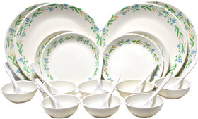Czar 24 Pc New Dinnner set-Green border