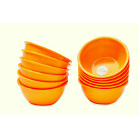 ASP Polyplast Microwave Safe Round Bowl 12 Pcs Set  (Orange)