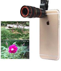 Universal 12X Zoom Telescope Camera + Adjustable Holder Mobile Phone Lens