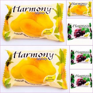 Harmony Fruits Soap ( Mix Pack of  6 -75 gms)