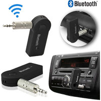 Wireless v3.0 Car Bluetooth Device with 3.5mm Connector, USB Cable, MP3 Player, Audio Receiver (Black)