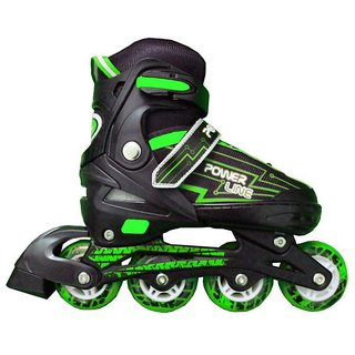 Power Superb Inline Skates Green - Large Size ( 36-39)