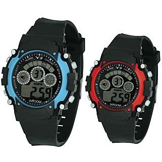 Crude Smart Combo Of Digital Watch-rg599 With Pu Strap for girls and Boy's (Kid's)