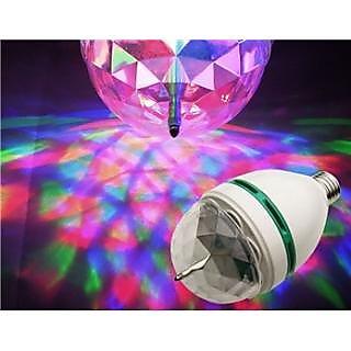Disco Light Mini Party Lamp LED 3W Effect Rotating Decorative RGB Crystal Bulb