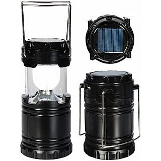 Astyler Emergency light Solar lamp LED Rechargeable Lantern- Solar Power or AABatteries or AC Power
