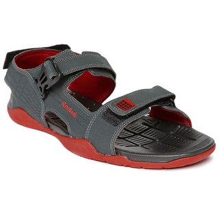 1b9bca625230 Buy Reebok Mens Grey Black Velcro Sandals Online - Get 31% Off