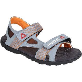 6b4efdb1a7a4 Buy Reebok Mens Grey Velcro Sandals Online - Get 27% Off