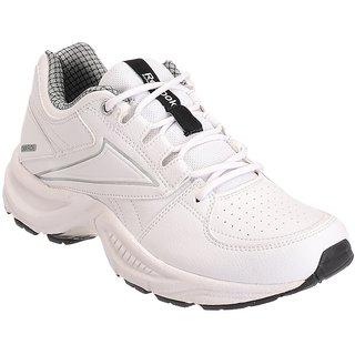 Reebok  Mens White,Silver Sport Shoes