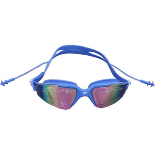 Teji Swimming Glasses with Attached Ear Plugs For Adults