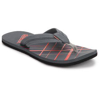 Reebok Mens Gray Slippers