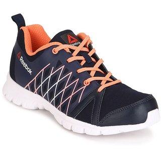 Reebok Womens Navy,White Sports Shoes