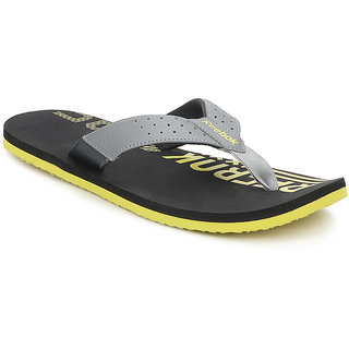 Reebok Mens Black,Gray Slippers