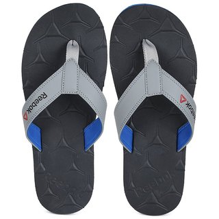 Reebok Mens Gray,Blue Slippers