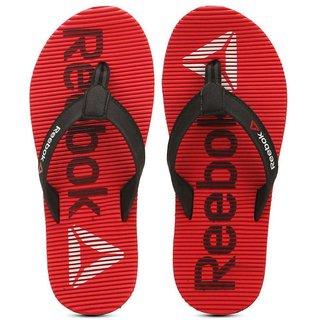 Reebok Mens Red,Black Slippers