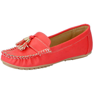 FAUSTO Peach Womens Loafers and Mocassins