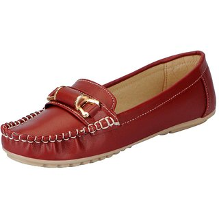 FAUSTO Cherry Womens Loafers and Mocassins