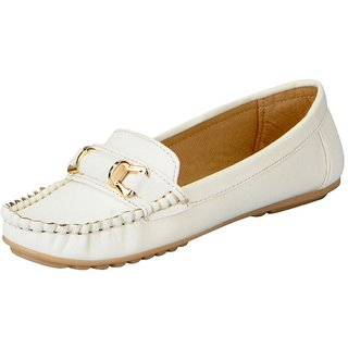 FAUSTO White Women's Loafers and Mocassins