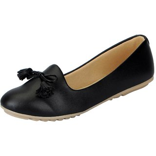 FAUSTO Black Women's Synthetic Ballerina