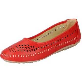 FAUSTO Red Women's Synthetic Ballerina