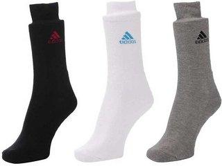 Adidas Multicolour Cotton Full Length Socks - 3 Pairs