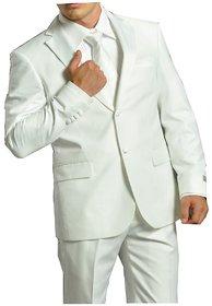 Premium Poly viscose White Suit Material