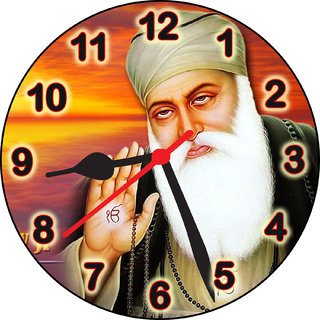 3d designer guru nanak dev ji wall clock