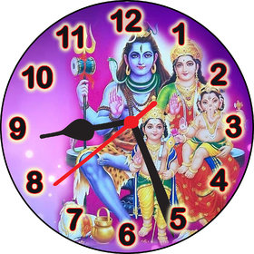 3d designer shiv parivar wall clock